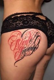 个性的一组花体字英文纹身图案欣赏