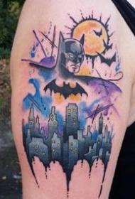 蝙蝠侠:和漫威蝙蝠侠相关的一组纹身图案