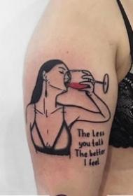 红黑色组成的个性小图纹身图片9张