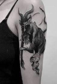 死黑色的一组暗黑个性纹身作品图案