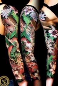 27张漂亮的花臂、花腿纹身作品赏析