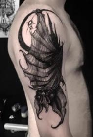 适合遮盖的一组深黑色的暗黑系纹身图片