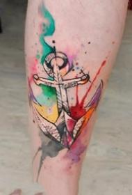 适合女士的一组漂亮创意水彩纹身图