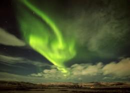 绿色的极光风景图片_12张