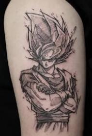 七龙珠刺青:纹在手臂和腿部上个性的动漫七龙珠纹身图案