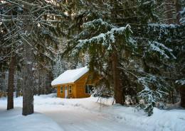 白雪覆盖的冬季图片_10张
