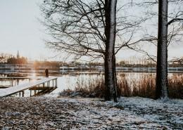 冬季的湖边图片_10张