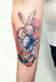 很心爱的一组小兔子纹身图案观赏