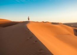 藍天下的沙漠圖片_8張