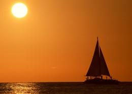 海邊唯美日落圖片_64張