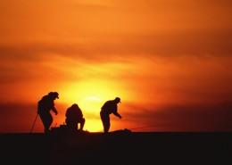 海邊夕陽剪影圖片_25張
