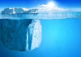 海面冰山图片_9张