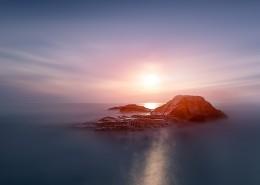 海上日落風景圖片_9張