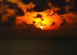 海滩日落图片_11张