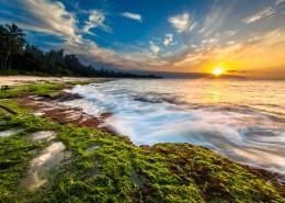 海滩夕阳景色图片_9张