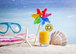 沙灘衣帽服飾風景圖片_15張