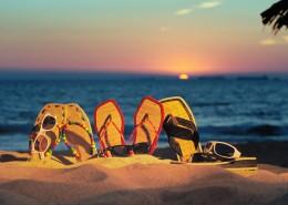黄昏的大海夕阳风景图片_9张