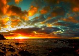 美丽的夕阳海景图片_19张
