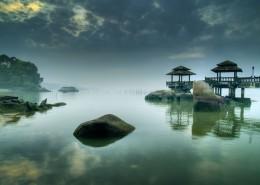 湖面倒影風景圖片_24張