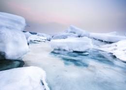 冬天的大海风景图片_11张