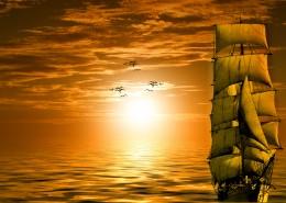 唯美的日出日落图片_10张