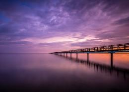 唯美紫色天空图片_20张