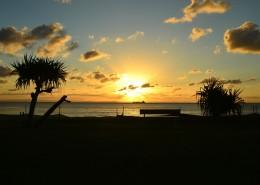 唯美的沙滩日落图片_7张