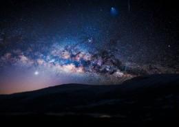 浩瀚的星空銀河風景圖片_9張