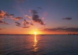 夕阳下的云彩图片_21张