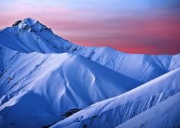 冬季雪山風景圖片_9張