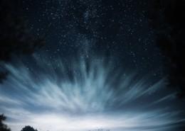 风云变幻的夜空图片_10张