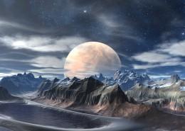 月球山脈景色圖片_8張