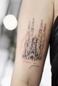 旅行爱好者喜欢的一组旅行主题纹身