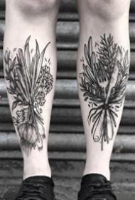 34张个性的黑灰点刺纹身图案