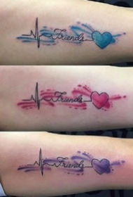 好看的英文字母搭配水彩纹身图片