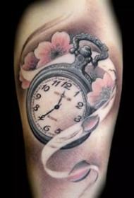 时钟刺青:好看的一组彩虹眼时钟纹身图案