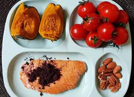 四格盘子的便当健康减肥餐记录