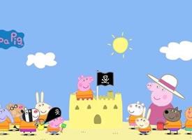 一组小猪佩奇和家人的快乐时光图片