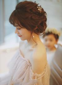 一组超仙超美的新娘发型图片参考