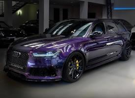 一组骚紫色奥迪RS6图片欣赏