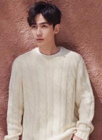 朱一龙身穿白色毛衣,清新文艺,帅气迷人