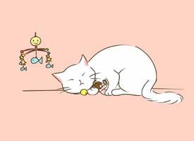 一组可爱猫咪卡通插画壁纸 ????