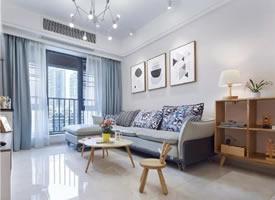 89平北欧精致浪漫的三居室装修效果图