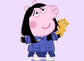 小猪佩奇穿衣服的时髦壁纸观赏