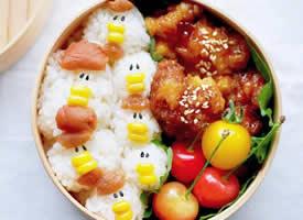 日本美食博主 ぺろり 制作的便当图片
