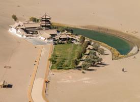 一組鳴沙山月牙泉沙漠風景圖片欣賞