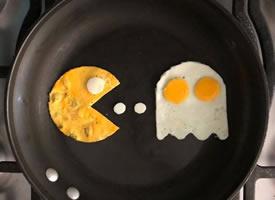 藝術家把他的早餐雞蛋變成了藝術品