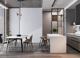 酷感实足的现代公寓设计装修后果图