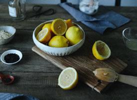 一组森系唯美的柠檬拍摄图片欣赏