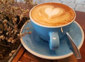 提神的飲品咖啡拉花圖片